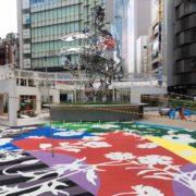 ストリートプリント アスファルト型押し再加熱工法 ストリートプリント ストリートボンド 新宿駅