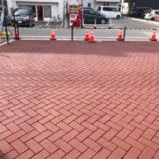 ストリートプリント アスファルト型押し再加熱工法 Dヘリンボーン