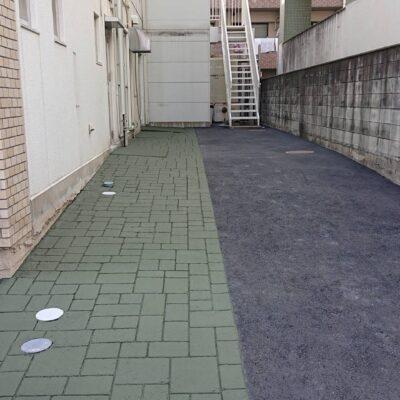 ストリートプリント アスファルト型押し再加熱工法 ストリートプリント ストリートボンド アシュラースレート