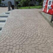 ストリートプリント streetprint アスファルト型押し再加熱工法 型押しアスファルト 景観工法 ストリートボンド streetbond 水性アクリルエポキシ強化樹脂 スキャロップ