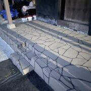 アスファルト型押し再加熱工法 ストリートプリント ストリートボンド トミナガコーポレーション ステンシルボンド ランセキ